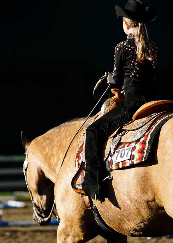 western-rider-on-buckskin-quarter-horse