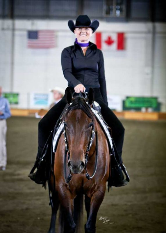 aqha show horse rider
